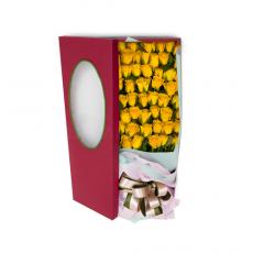 [47-상자]노란장미 한다발